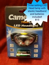 LED Headlamp with headband AND BATTERIES INCLUDED in Fort Leonard Wood, Missouri