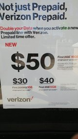 DOUBLE DATA VERIZON PREPAID in Beaufort, South Carolina