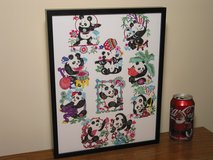 Framed Chinese Panda Papercuts in Bartlett, Illinois