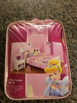 DISNEY 4-Piece Toddler bed set LIKE NEW! in Naperville, Illinois