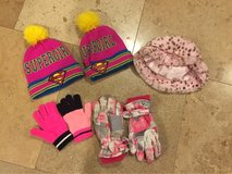 Lot of girls hats and gloves in Bolingbrook, Illinois