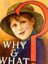 """""""The Wonder Book of Why & What""""   1920's  English publication for kids in Ramstein, Germany"""