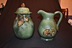 Pinecone Ceramic Cookie Jar & Pitcher in Naperville, Illinois