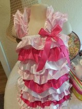 $5.00 Baby Girls Size 3T Big Dreamz Satin Dress - Pinks/White - NEW Rows Of Ruffles - so cute  N... in Leesville, Louisiana