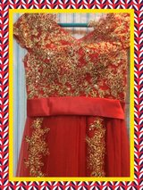 Short Sleeve V Passion Red A Line Long Evening Dresses*#1 in Okinawa, Japan