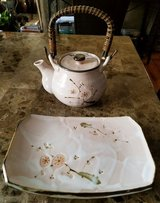 Excellent Condition! Pink Japanese Teapot/Serving Plate in Fort Campbell, Kentucky