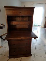furniture -  antique solid wood desk / cabinet in Ramstein, Germany