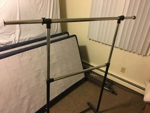 Clothes rack in Fort Drum, New York