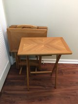 TV Tray Tables and Stand - Set of 4 in Glendale Heights, Illinois