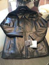 Ladies Black Leather Coat - New w/Tags in Pasadena, Texas
