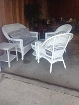 Wicker patio set in Camp Lejeune, North Carolina