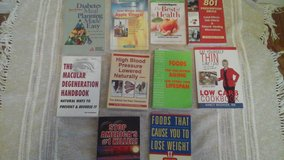 Health Related  Soft Cover Books Diabetes Weight Loss/Diet  Lower BP Vitamins/Medications in Bolingbrook, Illinois
