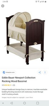 Eddie Bauer wooden bassinet in Westmont, Illinois