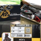 """*NEW* in box K2 Men's """"Kinetic 80"""" inline skates/rollerblades; MSRP $100 here for $50 obo in Plainfield, Illinois"""