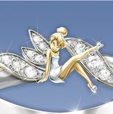 Brand new fairy elf CZ white gold plating two-toned wedding ring size 7 in Fort Campbell, Kentucky