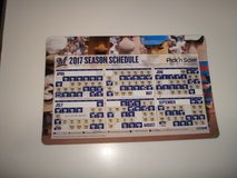 Collectible 2017 Milwaukee Brewers Season Schedule Magnetic Brand New! in Brookfield, Wisconsin