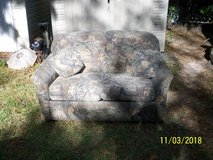 Camouflage Love Seat with Pull Out Bed in Leesville, Louisiana