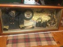 Shadow Box USN United States Navy Vintage Large 27 x 12 x 5 Cool Piece. Hooks on back for easy h... in Oswego, Illinois