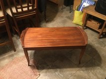 """Beautiful enlayed wood design on this very unique coffee table. Is approximately 38"""" width deep ... in Chicago, Illinois"""