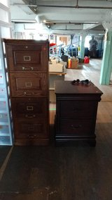 Wood File Cabinets (4 Drawer and 2 Drawer) in Fort Lewis, Washington