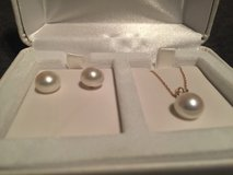 10k pearl necklace and earrings in Fort Leonard Wood, Missouri