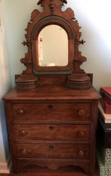 Antique dresser with mirror in Westmont, Illinois