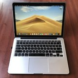 "13"" MacBook Pro Retina 128gb 8gb ram Mojave in Oceanside, California"