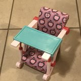 "18"" Our Generation Doll Clip On High Chair in Fairfield, California"