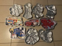 Large Lot of 19 Wilton Shaped Cake Baking Pans Mostly Kids in Fairfield, California