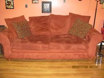 Red Couch, clean - no stains in Fort Campbell, Kentucky