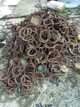 !! 200 Horseshoes For Craft, Yard Art !! in Yucca Valley, California