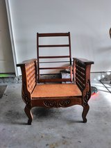 "Antique Wooden ""Morris"" Manual Recliner Frame in Naperville, Illinois"