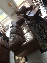 Italian Leather Couch, Chair, & Ottoman in Stuttgart, GE