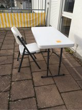Lifetime Table and 4 Chairs in Stuttgart, GE