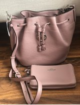 blush pink coach purse and wallet in Fairfield, California