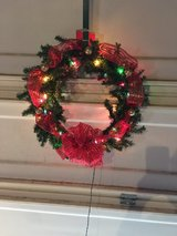 Christmas wreath in Travis AFB, California