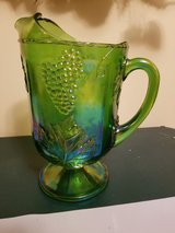 Carnival Glass Pitcher - Green Iridescent in Naperville, Illinois