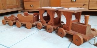 Large solid handmade wooden train with three trailers - top condition! in Spangdahlem, Germany
