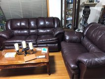Leather Reclining Couch in Okinawa, Japan
