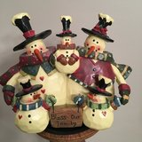 "5x5 Resin Christmas ""BLESS OUR FAMILY"" of 5 Snowmen in Westmont, Illinois"