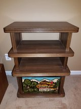 Solid Wood Hand Carved German Glass Table Set with TV Stand in Quantico, Virginia