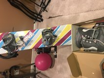 snowboard and boots in St. Charles, Illinois