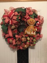 Ginger bread evergreen Christmas wreath in Rolla, Missouri