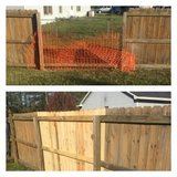 Fence repair in Camp Lejeune, North Carolina