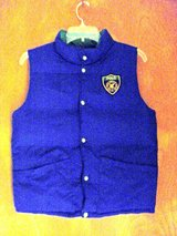 Boys Polo Blue/Kelly Green Reversible Vest-M-10/12 in Palatine, Illinois