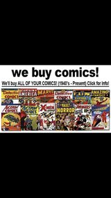 buying comic books and comic style magazines in Tinley Park, Illinois