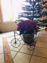 New bike with clay flower pot in Vacaville, California