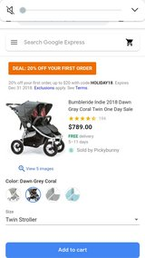 bumble ride twin indie jogger in Fairfield, California
