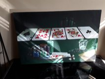 Poker and chips wall hanging brand new in Algonquin, Illinois