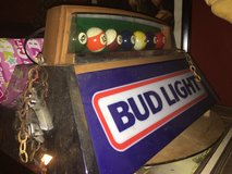 Budweiser light for pool table in Fairfield, California